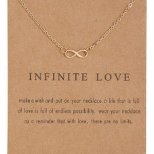Gold Color Infinity Love Charm Necklace